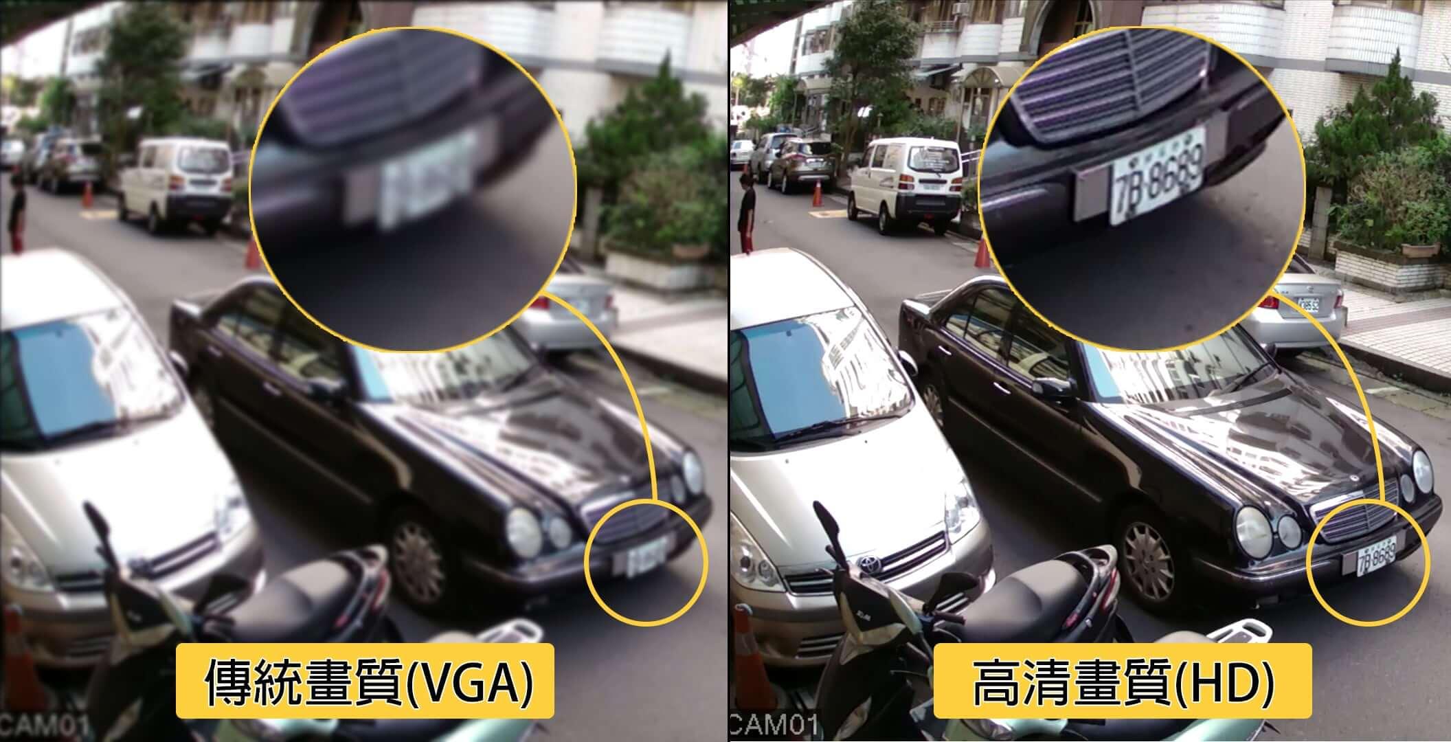 監視器車牌拍攝效果