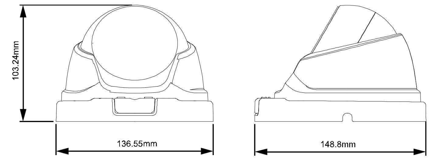 攝影機 AVTECH-DGC1304尺寸圖
