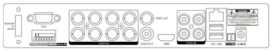 8路監控主機 AVTECH-DGD1009背板